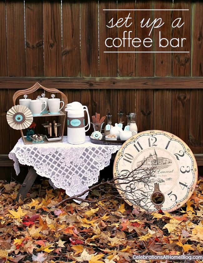 Find out how to set up a coffee bar for fall entertaining at home. You'll love my tips and photo inspiration that will guide you through it.