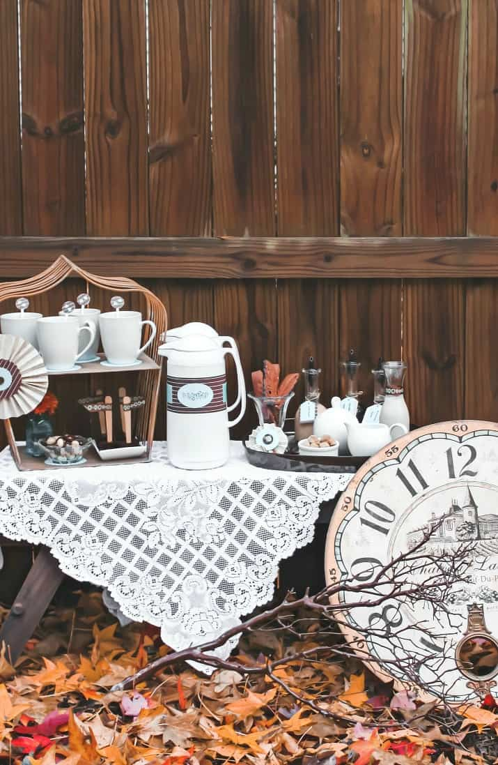 how to set up a coffee bar for a party