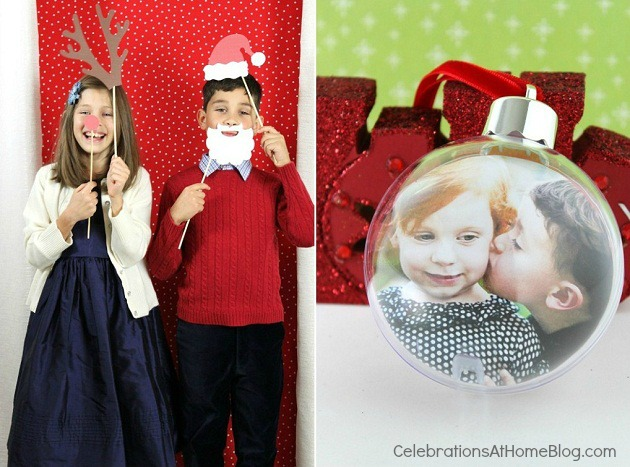 How To Create Your Own Christmas Photo Cards with backdrop and props