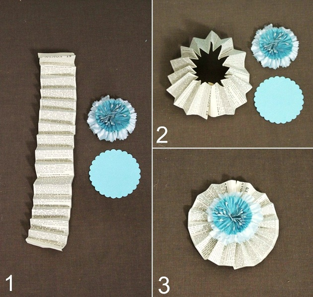 Paper crafts diy flowers celebrations at home paper fan rosettes mightylinksfo