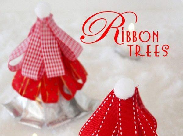 Christmas Ribbon Tree DIY