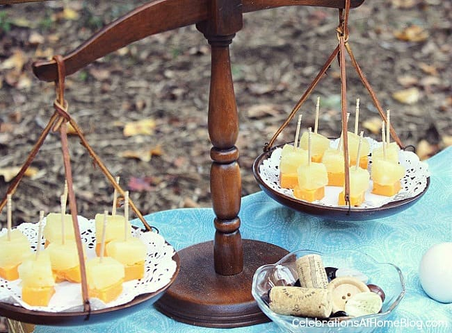 Wine-cheese bar; Thanksgiving wine & cheese bar; Fall entertaining