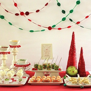 Holiday Entertaining Christmas Red Green Party Ideas