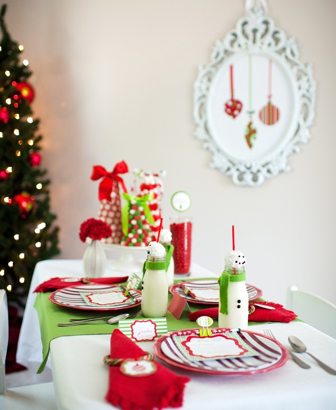 Kids Christmas table