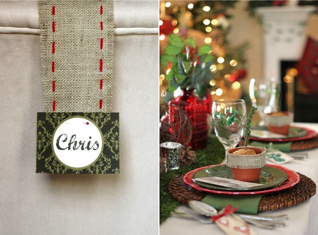 Rustic Woodland Christmas Tabletop - Celebrations at Home