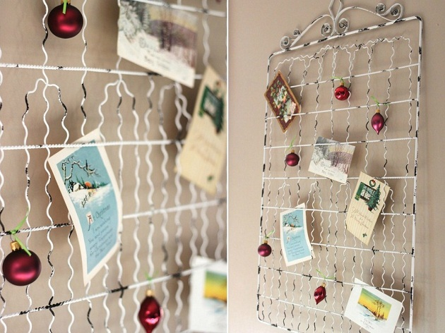 Christmas Card Display Ideas - Celebrations at Home