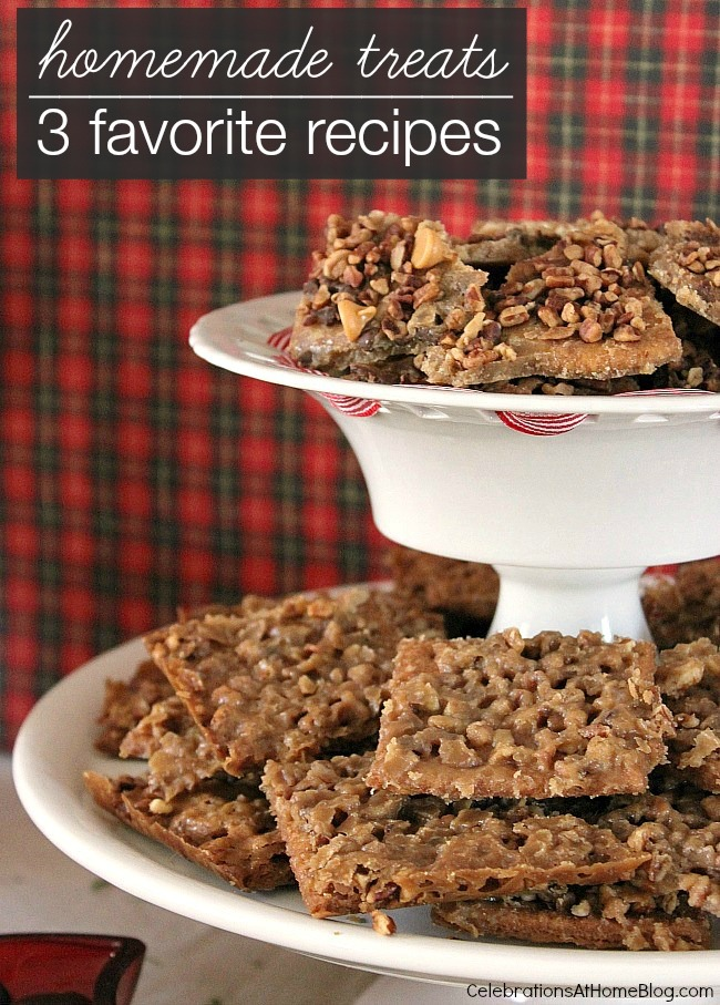 3 of my favorite homemade sweet treats to add to holiday entertaining at home, or for a weekend sweet tooth craving, Easy and delicious recipes here.