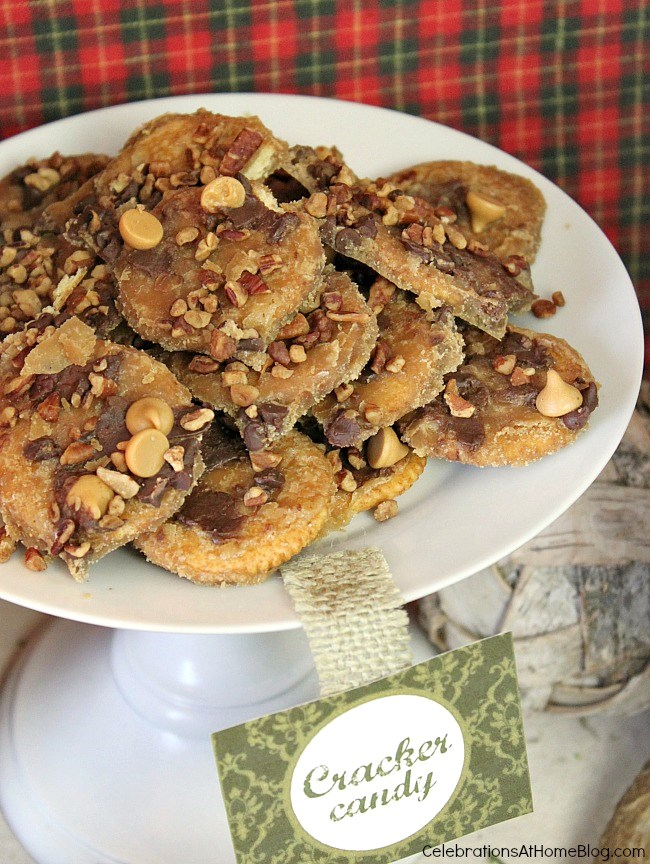 3 of my favorite homemade sweet treats - cracker toffee candy