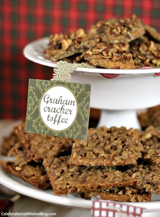 3 of my favorite homemade sweet treats - graham cracker toffee bars