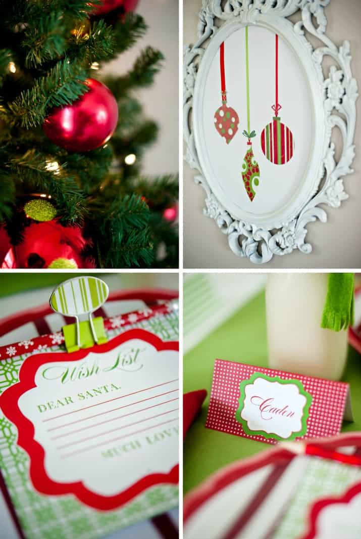 kids Christmas table and party decor