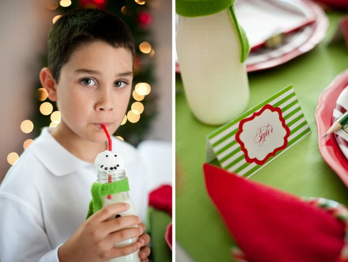 kids Christmas table party ideas