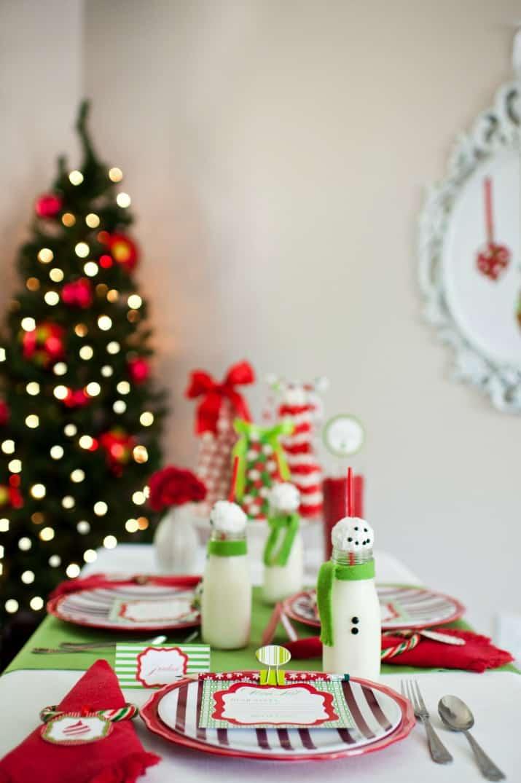 kids Christmas table with Christmas tree