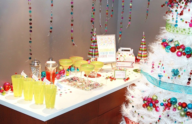A Colorful & Glittery New Years Eve Bar {Guest Feature}