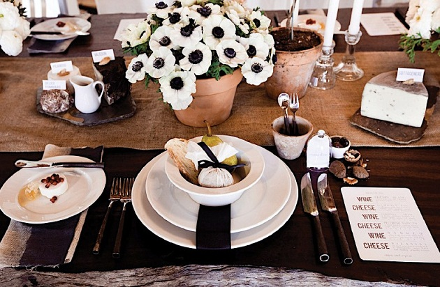 Weddings The Combination Of Rustic Neutrals With Black White Gives Wedding