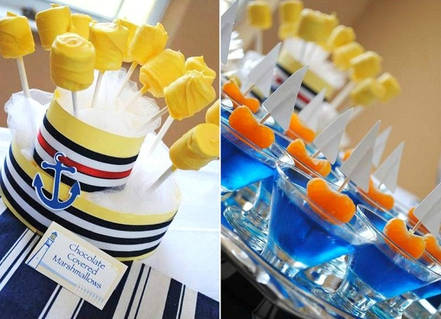 nautical themed baby shower celebrations at home