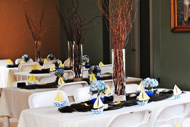 Nautical themed baby shower celebrations at home for High end event ideas