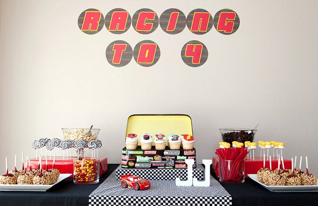 Racing Cars Is Such A Classic Theme For Little Boys Birthday Parties And With The Release Of Movie 2 Its Great Chance To Add Contemporary