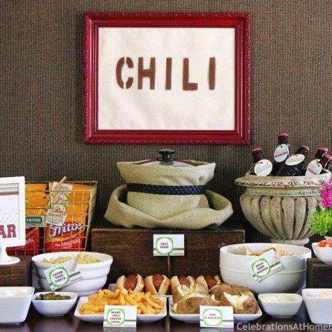 how to set up a chili bar
