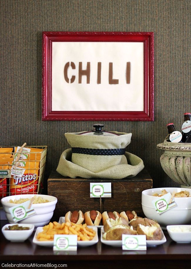 Set up a chili bar with these tips ideas and images plus my & Set Up A Chili Bar + All-Purpose Chili Recipe! - Celebrations at Home