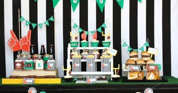 Football Party Snack Table {Guest Feature}