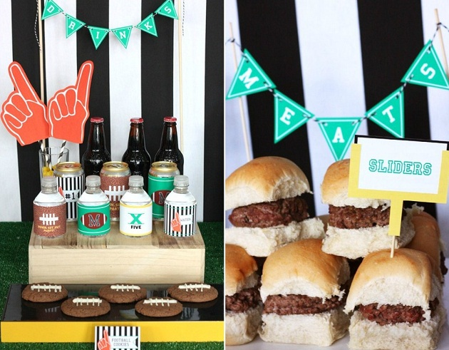 Football Party Snack Table Guest Feature Celebrations