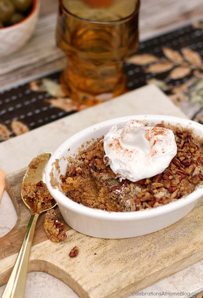 You'll love this classic pumpkin pie dump cake recipe with it's flavors of Fall. Make this pumpkin dessert for Thanksgiving or any time you entertain at home.