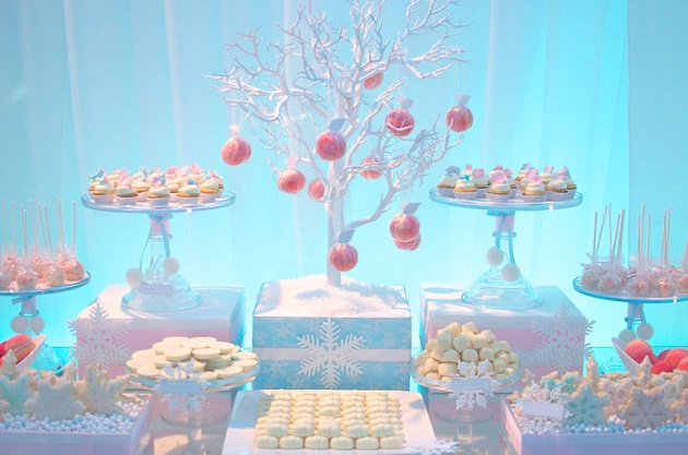 ec8cf542f1d4 The desserts are mostly white with a few pink accents and many of these  ideas you can re-create for your own winter party. Check out all the lovely  photos ...