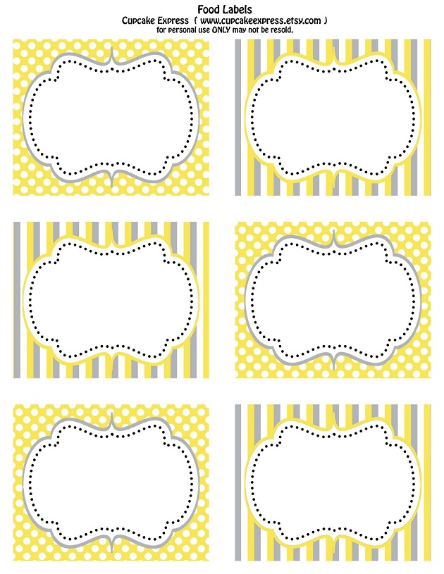 Free Printables In Yellow Gray Celebrations At Home