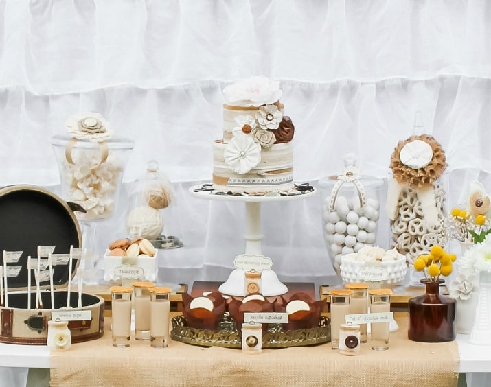 all white desserts table