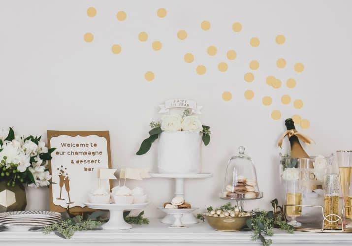 celebration dessert table