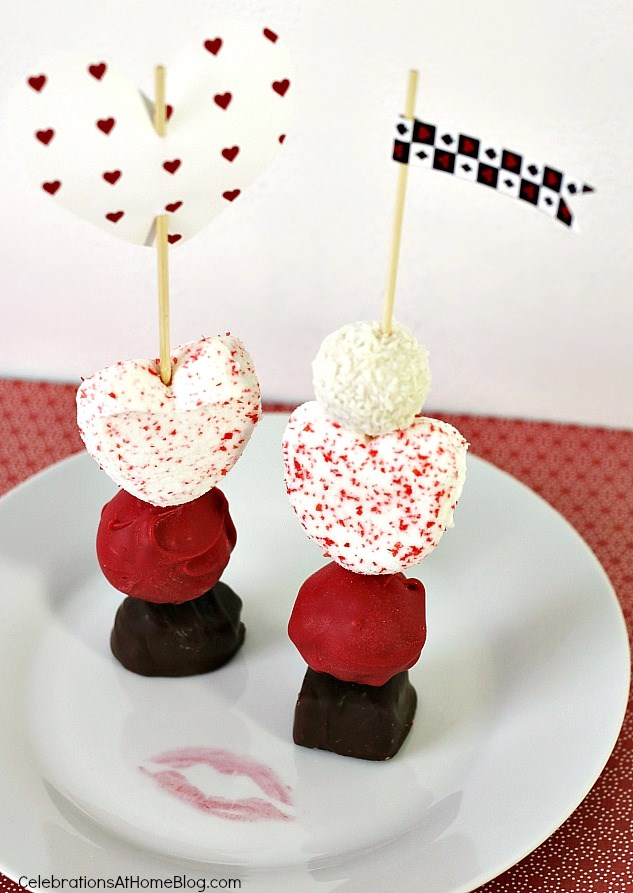 Make your own dessert skewers for Valentines day
