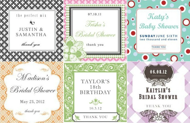 Personalized Favor Boxes & Labels - Celebrations at Home