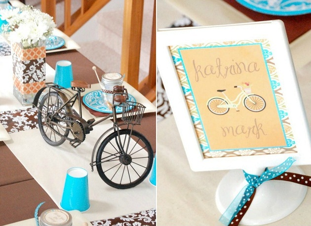 Centerpieces Ideas Bicycles Centerpieces Bicycles Shower