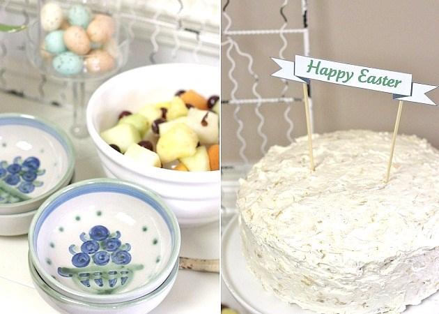 Easter tabletop ideas for brunch buffet
