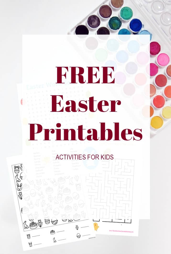 free Easter printables activities for kids