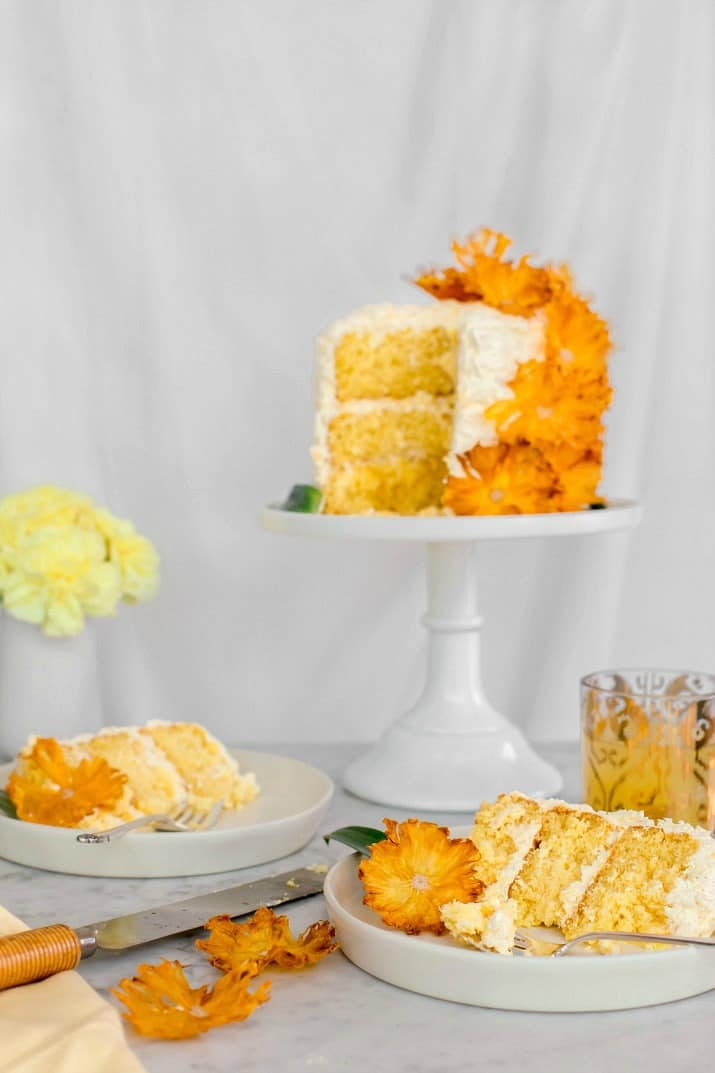 pineapple fluffy white layer cake