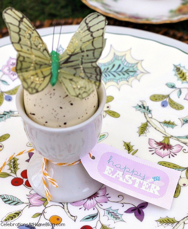 Easter tabletop ideas - place setting