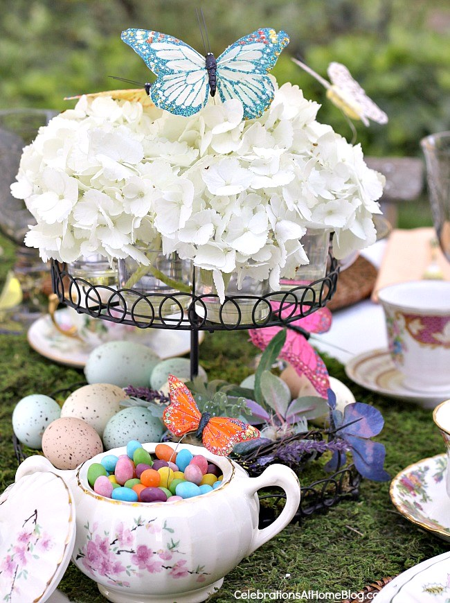 Easter tabletop ideas - centerpiece