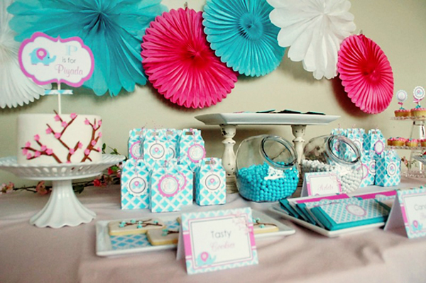 Modern Baby Elephant Baby Shower {guest Feature}