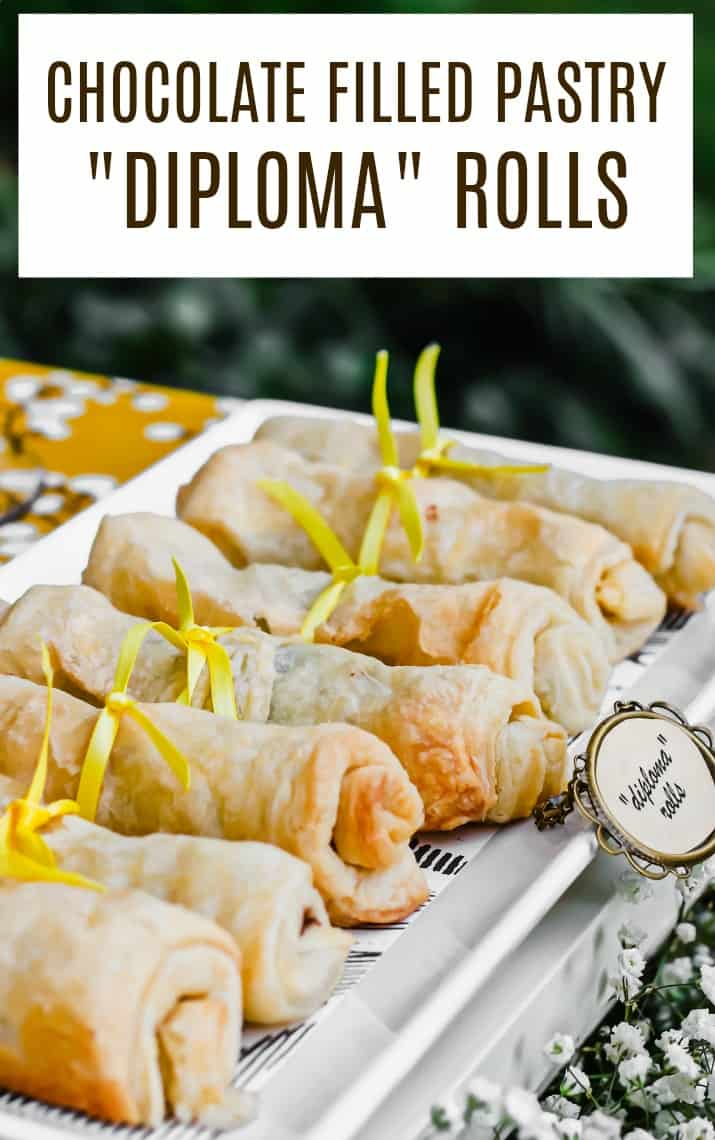 Chocolate Filled Pastry Rolls Recipe - Celebrations at Home