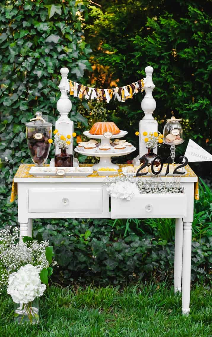 keys to success graduation dessert table