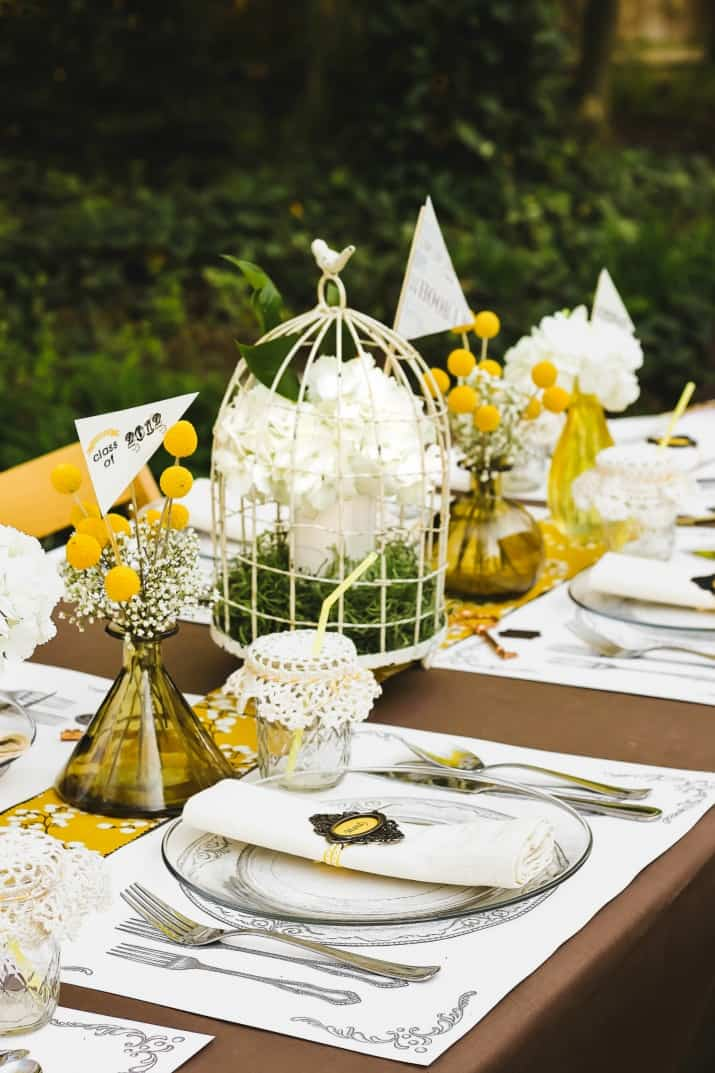 Graduation Party Ideas Keys To Success Theme, shabby chic tablescape