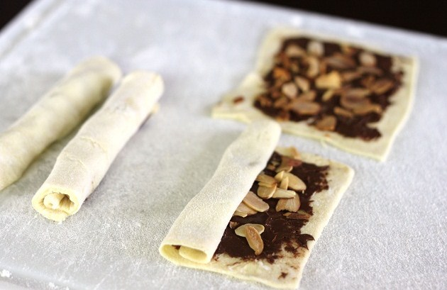 Chocolate-Almond Pastries Recipe — Dishmaps