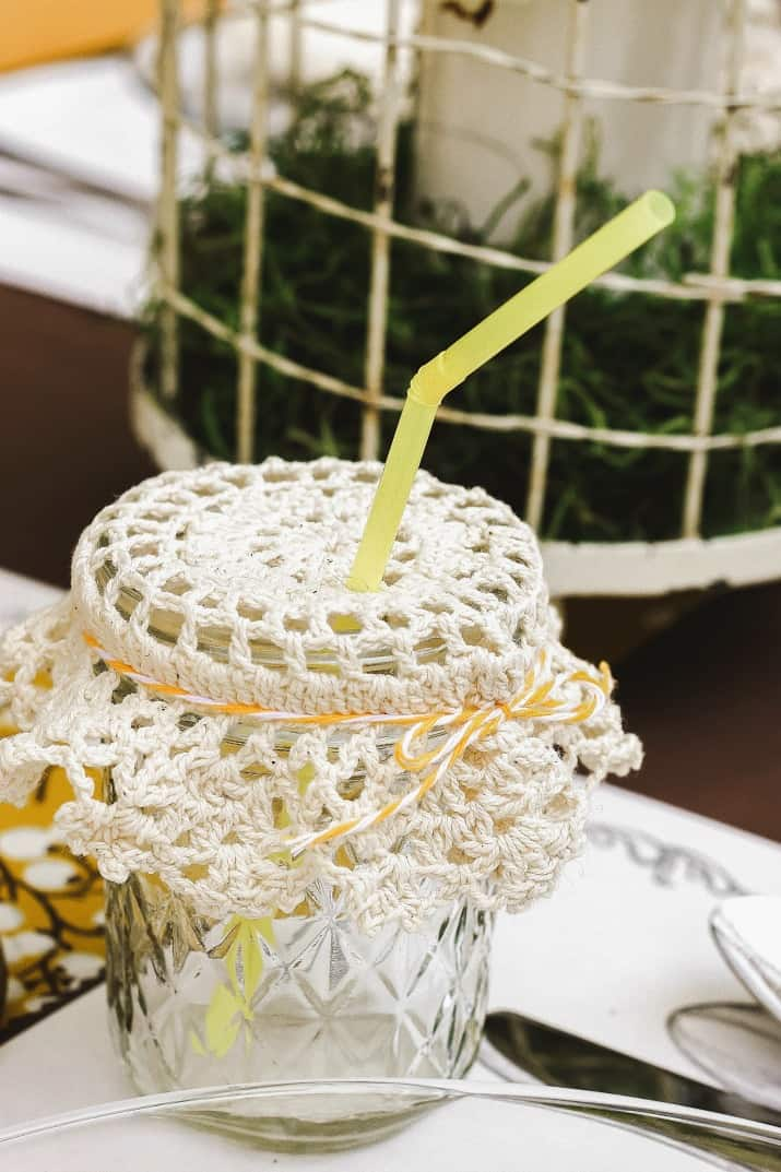 drink doily glass topper
