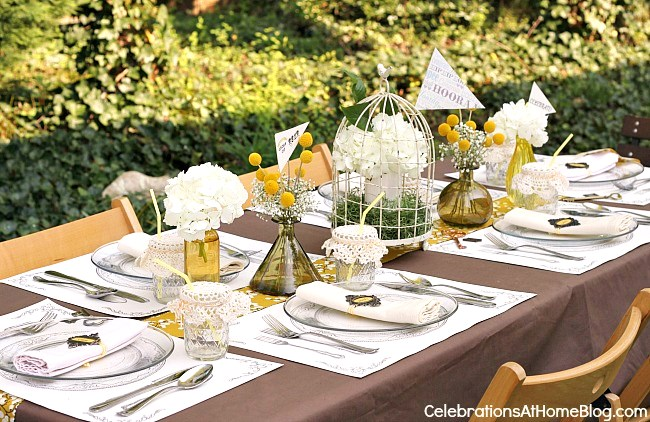 """graduation party shabby chic table for """"keys to success"""" theme"""