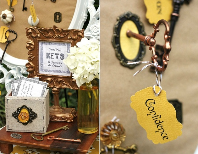 "Graduation party - ""keys to success"" theme"