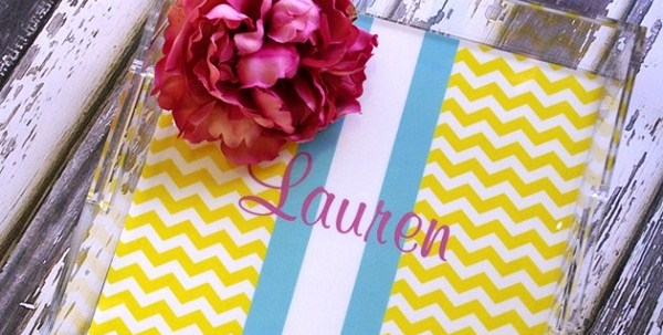Personalized Lucite Trays {guest blogger}