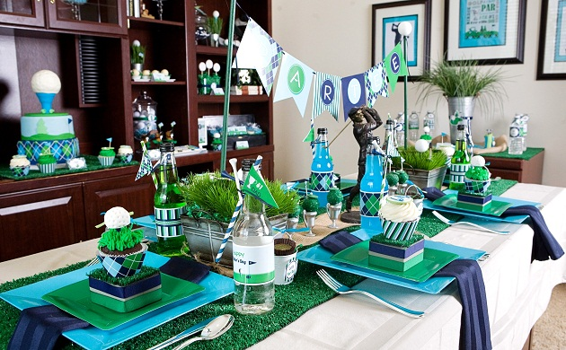 Father's Day Golf Party | EventTagious Daily Inspiration Blog on golf centerpieces ideas, golf gift ideas, golf toys for decorations, golf table games, golf posters ideas, golf balloon ideas, golf giveaway ideas, golf invitations ideas, golf themed food ideas, golf themed centerpieces, golf table sign ideas, golf christmas tree ideas, golf wall art ideas, golf cakes ideas, cupcake table display ideas, golf crafts ideas, golf favors ideas, golf decorating ideas, golf ball table decorations, golf wedding decorations ideas,