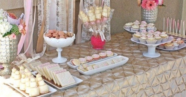 Romantic Bridal Shower Dessert Table {Guest Feature}