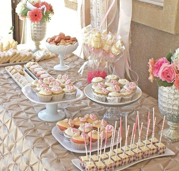 Romantic Bridal Shower Dessert Table Guest Feature